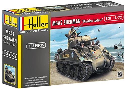 """Heller 79894 - Modellbausatz M4A2 Sherman """"Division Leclerc"""" (deco.FR)"""