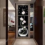 OOFYHOME Orologio da parete Orologio da parete moderno Orologio da parete di moda Art Silenzioso Orologio da parete senza ticchettio Home Decor per soggiorno Camera da letto - Triplo appeso Orologio da parete dipinto , #20