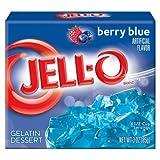 Jello Berry Blue Gelatin Dessert Jell-O 3oz 85g American Jelly Jello