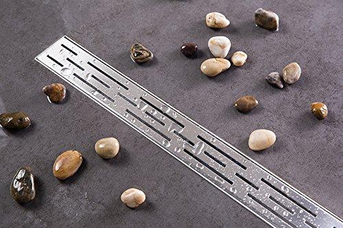 Duschrinne Siphon 70cm Edelstahl Ablaufrinne Geruchsstop Bodenablauf Duschablauf Bodenbefe