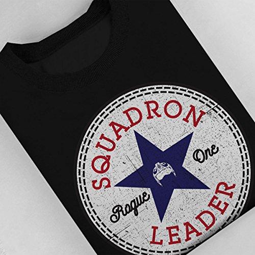 Star Wars Rogue One Squadron Leader Converse Logo Women's Sweatshirt Black