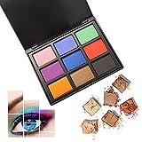 Shimmer Matte Nudo Palette Ombretti, AMBITO 9 Colori Professional Smokey Eyeshadow palette impermeabile maquillaje Cosmetico Tavolozza per Trucco Occhi Trucco Corredo Box - #3