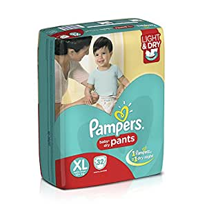 Pampers Extra Large Size Diaper Pants (32 Count)