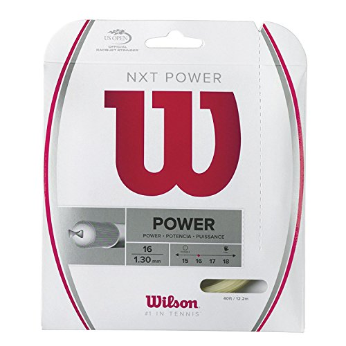 Wilson NXT Power Multifilament 40-Feet String, Natural, 17 - Set of 2 -