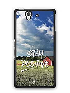 YuBingo Stay Positive Designer Mobile Case Back Cover for Sony Xperia Z