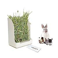 Amakunft Guinea Pigs Hay Feeder Rack, Rabbit Mess-Free Alfalfa Dispenser,Hay Manger Rack for Small Animal, rabbit, guinea Pig, galesaur, ferret