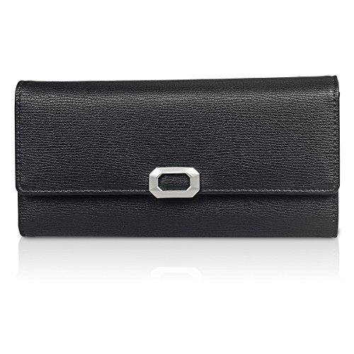Fency ,  Damen-Geldbörse 95-Degree Black (Tote Baggallini Expandable Bag)