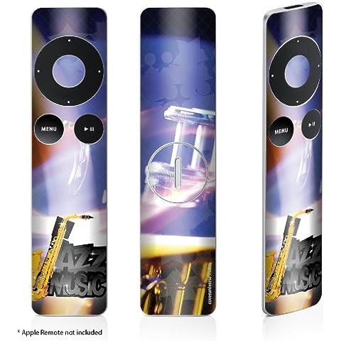 Skin adesivo sticker per telecomando Apple Remote alluminio, soggetto: jazz music