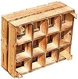 Geflammte NEUE stabile Kiste als Flaschenregal +++ von Kontorei®