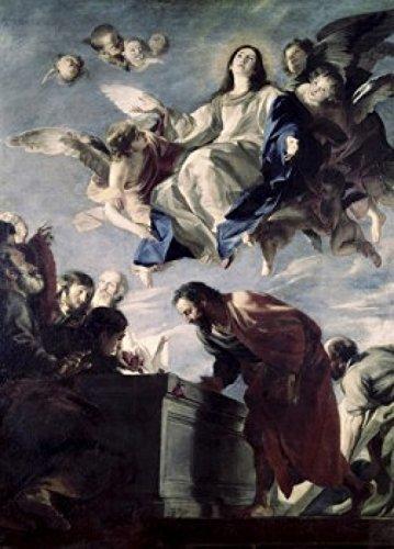 Mateo Cerezo - The Ascension of The Virgin Mateo Cerezo (1635-1685/Spanish) Poster Drucken (60,96 x 91,44 cm) - Mateo Poster