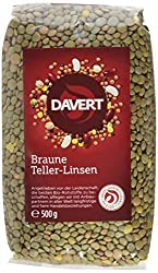 Davert Braune Teller-Linsen, 4er Pack (4 x 500 g) - Bio