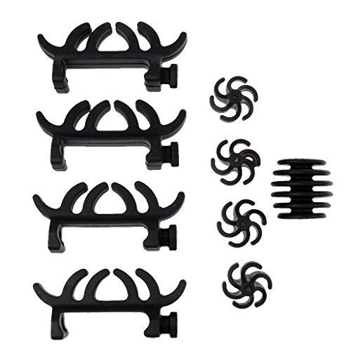 MagiDeal 9 In 1 Bogenschießen Dämpfer Bogen Stabilisator Bogensehne Schalldämpfer für Compound Bogen (Bogen, Schalldämpfer)