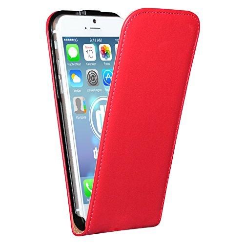 """deinPhone Étui pour iPhone 6(4,7"""") Flip Case Rot"""