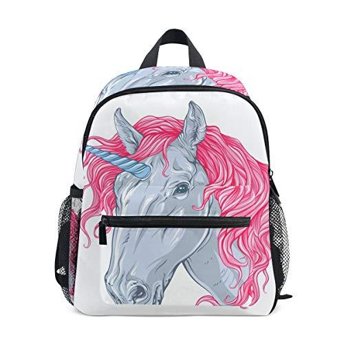 Mini Kinder-Rucksack Daypack niedliches Einhorn rosa Haar Vorschule Kindergarten Kleinkind Tasche für Reisen Mädchen Jungen -