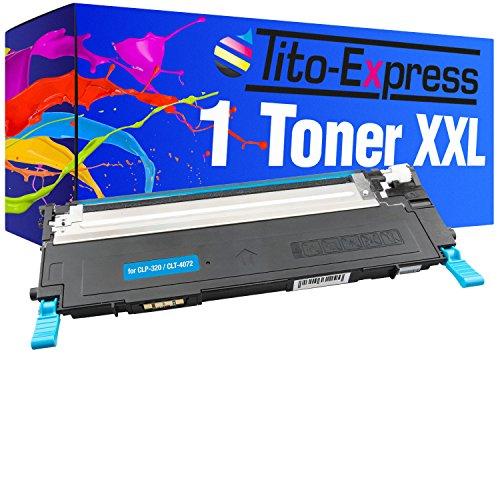 PlatinumSerie® 1 cartucho de tóner XXL compatible con Samsung CLP 320 Cyan CLP 320 N CLP 320 Series CLP 325 CLP 325 N CLP 325 W CLX 3180 CLX 3185 CLX 3185 FN CLX 3185 FN CLX 3185 FW CLX 3185