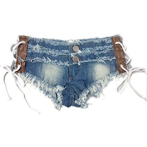 Kurze Jeans Nightclub Women Low-Rise Denim-Shorts Hot Pants Beach Shorts (größe : M) (Kostüme Für Weniger Code)
