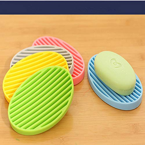 Niya Soft Candy Color Silicone Flexible Soap Dish Plate Bathroom Soap Holder Sap Box 8pcs Candy Dish Holder