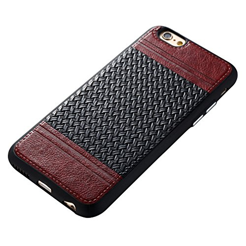 Mischfarben Weaving Pattern PU Leder Skin Cover Shell Soft TPU / Silikon Rückseiten Cover Case für iPhone 6 & 6s ( Color : I ) G