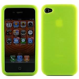 Etui skin siliconé pour Apple Verizon iPhone 4 (Vert)
