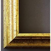 Bilderrahmen Genua Gold 4,3 - LR - 105 x 140 cm - wählen Sie aus über 500 Varianten - alle Größen - Modern, Vintage, Shabby, Landhaus - Fotorahmen Urkundenrahmen Posterrahmen
