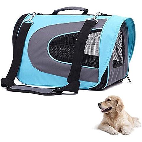 Stoga suavidad portable para mascotas caras viaje del perro portador de gato portador de tela Oxford bolsa de asas del bolso hogar perfecto para cachorros Perros