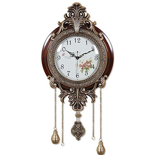 XUEYAN American Retro Reloj de Pared de Madera Maciza de un Solo...