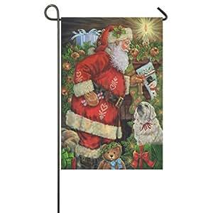 Santa Remembered Me Christmas Embellished Garden Flag