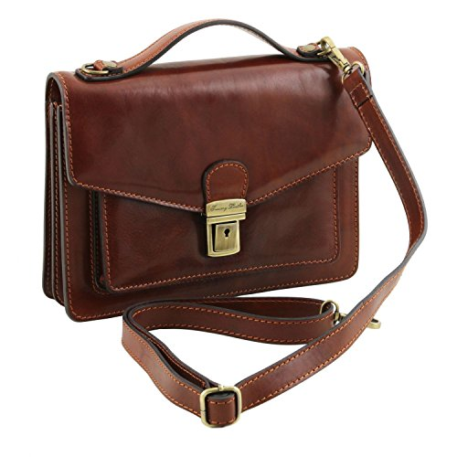 Tuscany Leather Eric - Borsello in pelle a tracolla - TL141443 (Miele) Testa di Moro