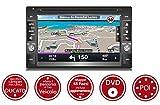 """Autoradio 2DIN 6,2"""" con Sistema di Navigazione GPS - Mappe Camper Europa - Bluetooth - DVD - Kit Completo per DUCATO"""
