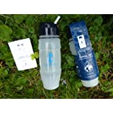 NEW 2016 Travel Tap 'Flip Spout ' 800ml pure water filter bottle - 1600 litres