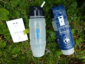 drinksafe-systems NEW 2019 Travel Tap 'Flip Spout ' 800ml pure water filter bottle - 1600 litres