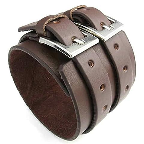 amdxd Bracelet jonc plaqué or style vintage hommes bracelets Marron Longueur: 21,6cm Bracelet Gourmette
