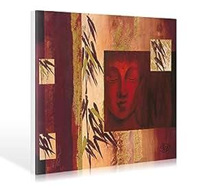 Art-Galerie Leinwandbild Verbeek & Van Den Broek - Buddha IV - 120 x 90cm - Premiumqualität - Modern, Buddha, Statue, Buddhakopf, Buddhismus, Religion, Abstrakte Farbfeld. - Made in Germany SHOPde