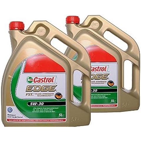 2 x 5 L = 10 Litri olio motore CASTROL EDGE FST 5W30 ACEA C3, BMW LONGLIFE-04, MERCEDES MB 229.31 229.51, PORSCHE C30, VW AUDI 504.00 507.00 LONGLIFE 2 + 3