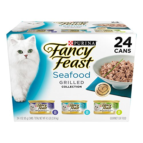 Purina Fancy Feast Wet Cat Food, Grilled, Seafood Feast Variety Pack,...