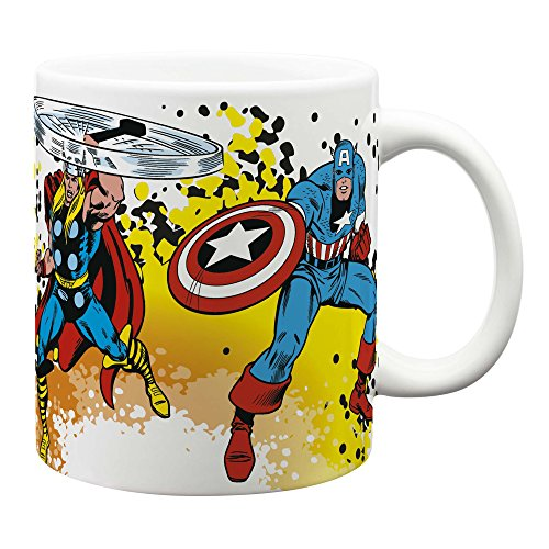 Zak! Designs Jumbo Ceramic Mug with Retro Marvel Comics Graphics, 24 oz. Capacity by Zak Designs - Jumbo Ceramic Mug