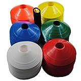DDOQ Fußball Platz Marker Kegel Fußball Training Space Marker 100(zufällige Farbe)
