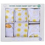 Moms Home Organic Cotton Unisex 6 Piece New Born Baby Girl Gift Set