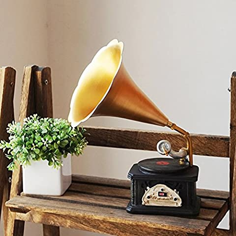 LIUYU Creative Retro Old Ornaments / Living Room Cabinet Wine Vintage Phonograph Cabinet Simulation Device-A,UNE