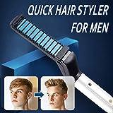 Symboat Lisseur Cheveux Fer à friser Quick Hair Styler Peigne Volumize aplatir le côté droit pour hommes