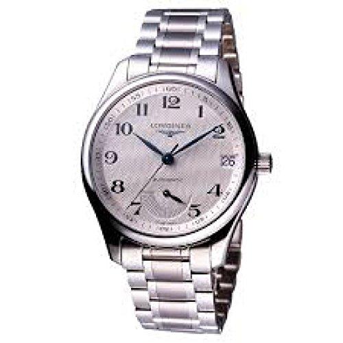 Uhr Longines Master Power l26664786Schalter Stahl Quandrante Silber Armband Stahl