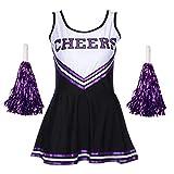 Disfraz de animadora Redstar, vestido con pompones, disfraz deportivo para Halloween, High School Musical, 6 colores, tallas de 34a 44