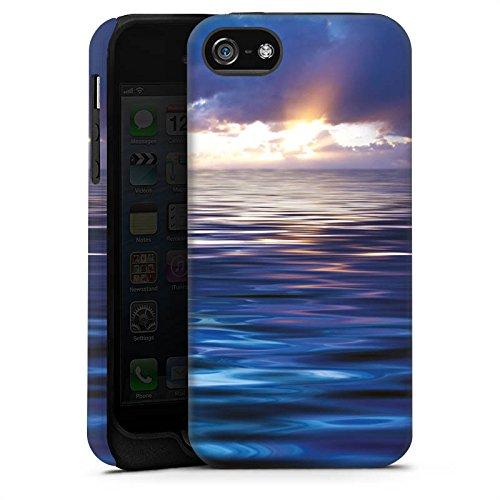 Apple iPhone X Silikon Hülle Case Schutzhülle Ozean Sonnenuntergang Meer Tough Case matt