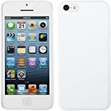 PhoneNatic Coque Rigide pour Apple iPhone 5c - gommée blanc - Cover Cubierta + films de protection