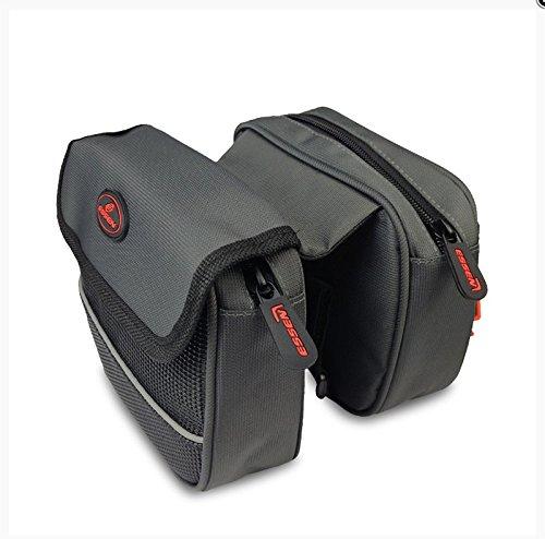 XY&GKMountain Road Bike obere Rohr Bag Tasche vorne Regendicht Strahl Fahrrad Fahrradausrüstung Armaturen, machen Ihre Reise angenehmer gray