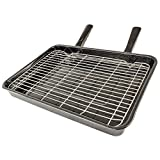 Spares2go Large Vitreous Enamel Grill Pan - Universal for all makes and models of Oven Cooker (420mm x 320mm)