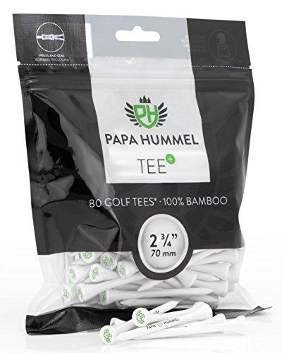 Preisvergleich Produktbild Premium Golf Tees - 70mm - 80 Stück - 100% Bambus