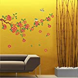 UberLyfe Shades of Pink Falling Flowers Wall Sticker Size 3 (Wall Covering Area: 60cm x 120cm) - WS-000515
