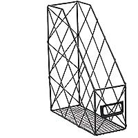 LoKauf Revistero Archivador Revistero Vertical Revistero Metal Oficina Caja Organizador Documentos Desktop Organiser 24,5 * 9,5 * 30 cm