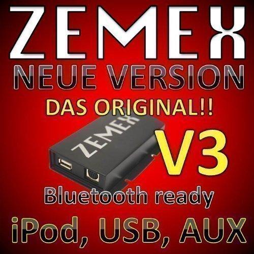 Zemex V3 USB iPod iPad iPhone Aux MP3 Adapter Honda Acura Accord 6 cd radio Accord navigation radio Civic Fit FRV Jazz Odyssey S2000 Ridgeline Element Acura Ipod